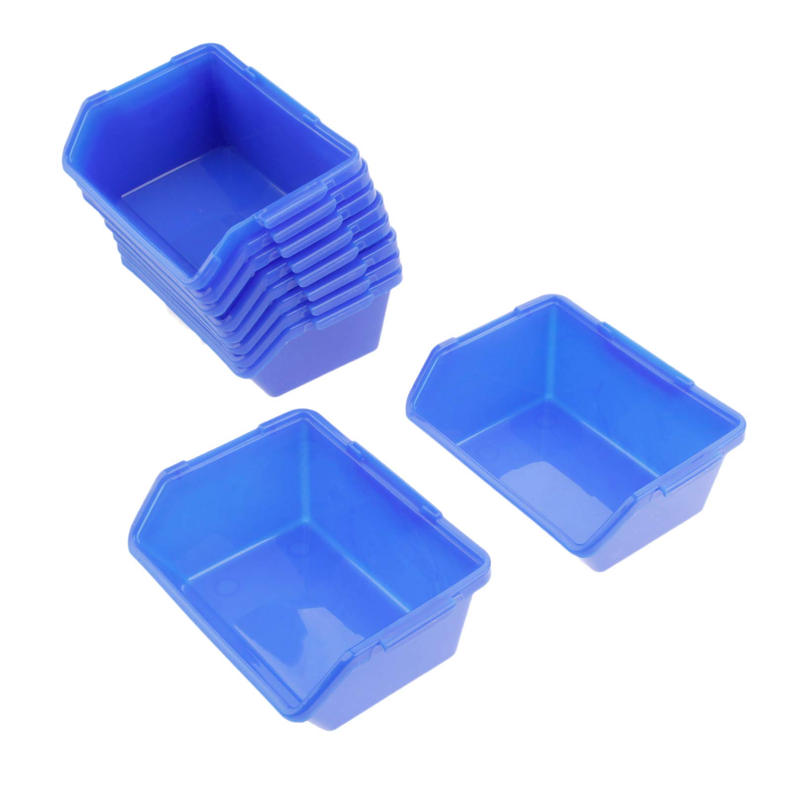10 Pcs Blue Bin Storage Rack Shelving Garage Storage Rack Tool Organiser Box Workshop Thickened combination Components box by Hicello (Image #2)