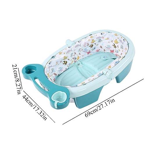 Aufblasbar Falten Babybadewanne,Babywanne Badewanne f/ür Baby Babybadewanne Babywanne Zusammenklappbar Blau Babybadewanne Zusammenklappbar Babywanne f/ür 0-3 Jahre alt Blau