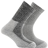 Horizon Unisex Deluxe Coolmax Outdoor Socks (Pack Of 2) (4.5-7.5 US) (Black Marl)