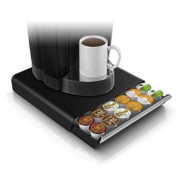 Mind Reader Hero - Soporte-cajón de almacenamiento para 36 cápsulas de café, en color negro: Amazon.es: Hogar