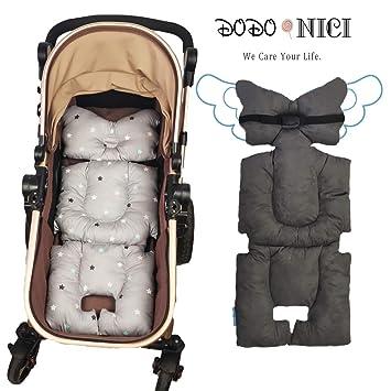 Cotton Baby Pram Stroller Cushion Pad Seat Liners Travel Outdoor Khaki