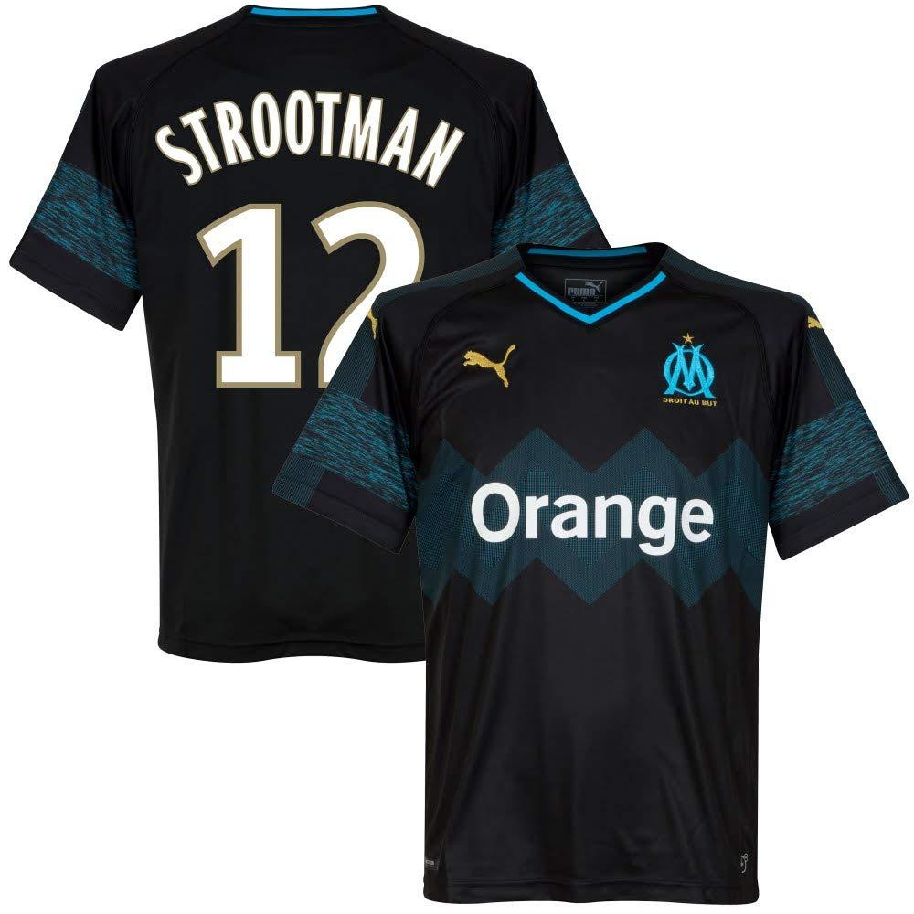 Olympique Marseille Away Trikot 2018 2019 + Strootman 12 (Fan Style)