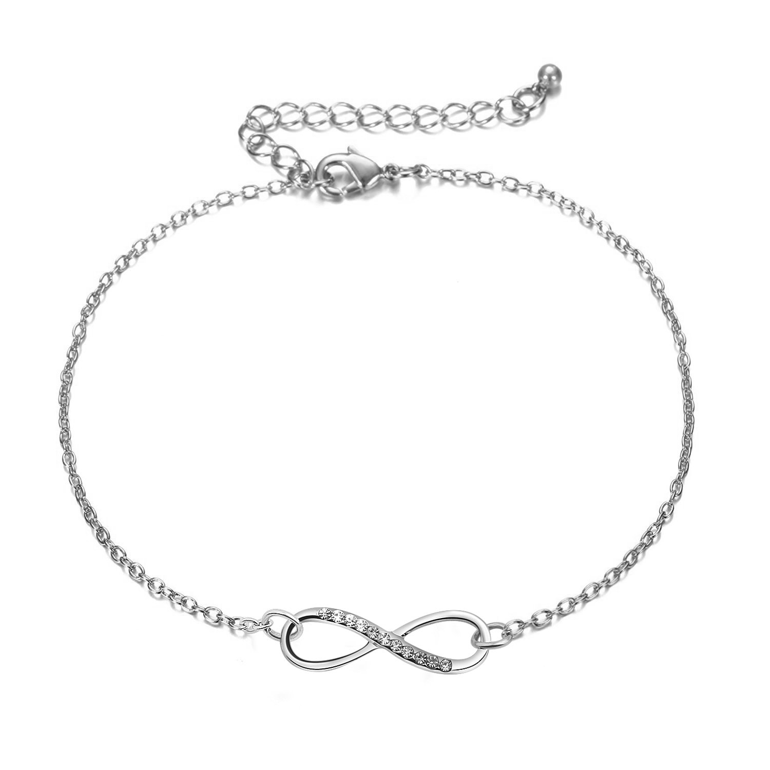 ENSIANTH Infinity Anklet Beach Jewelry Infinity Gift For Valentines Day Wedding Anniversary (Infinity Anklet)