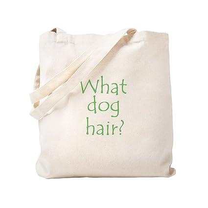 79b277ebbc2 Amazon.com: CafePress What Dog Hair? Natural Canvas Tote Bag, Cloth ...