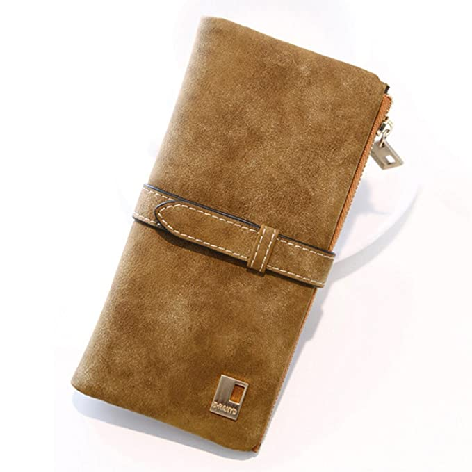MANGO KING Ladies Vintage Leather Suede Wallet Monedero ...