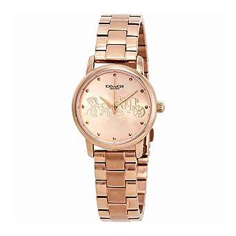 81f6ca16c53 Amazon.com  14502977 Coach Grand Ladies Analog Rose Gold Business ...