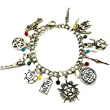 Natural Super Charm Bracelet - Dean Winchester Bracelets Valentines Jewelry Merchandise for Women Silver