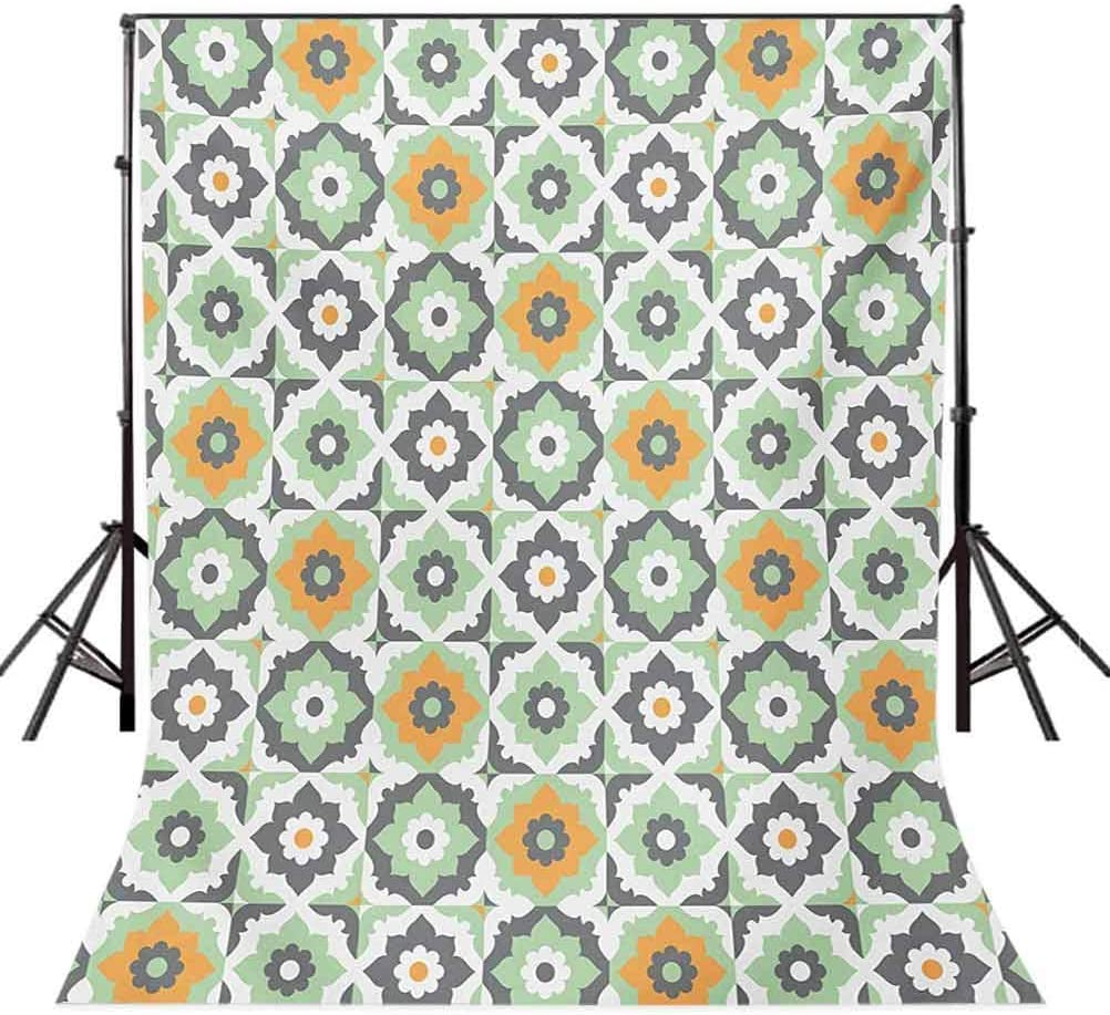 Kente Pattern 8x10 FT Photo Backdrops,Vertical Borders Inspired by Primitive Cultures Geometrical Design Background for Child Baby Shower Photo Vinyl Studio Prop Photobooth Photoshoot Multicolor