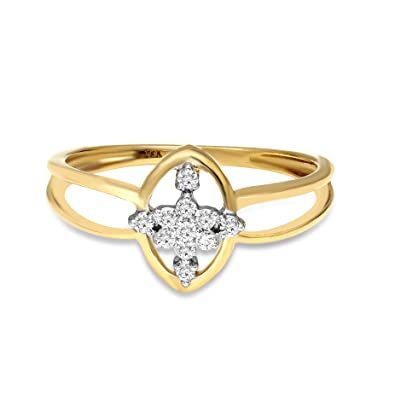 d733b81af Luxury Certified Diamond Engagement Ring for Womens Natural Diamond Rings  GH-VS Quality 18kt Real