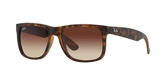 a3f46c70a09 Amazon.com  Ray-Ban JUSTIN - RUBBER LIGHT HAVANA Frame BROWN ...