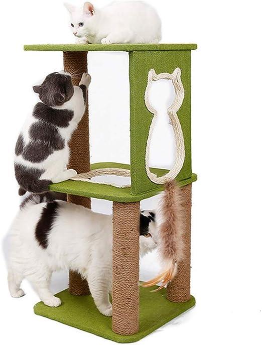 Wanww Rascador de árbol para Gatos con Gran Plataforma para Casas ...