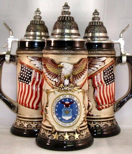 US Air Force Rustic German Beer Stein .75L USAF ONE Military Mug Made in Germany