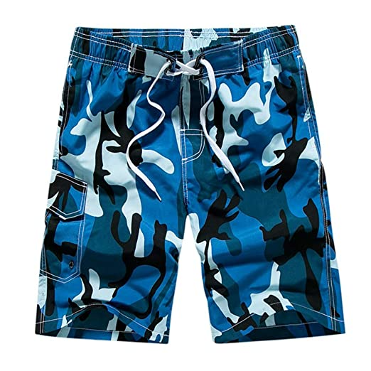 7368bf57cc Men's Funny Swim Trunks Quick Dry Beach Shorts Quicksilver Swim Trunks Men  Blue