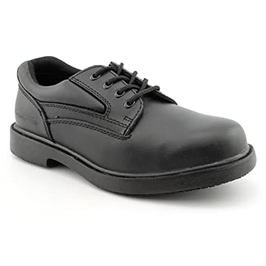 Amazon.com: Genuine Grip Footwear Men's Slip-Resistant Steel Toe Oxford:  Shoes