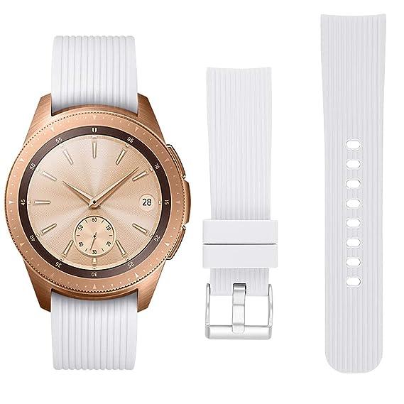 vivomove HR Band ECSEM Garmin Sport Band Premium Soft Silicone Replacement Band Breathable Strap Wristband for Garmin Vivomove HR/Vivoactive 3/ ...