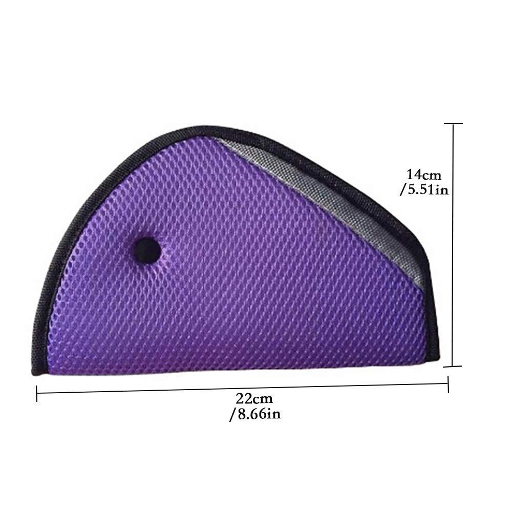 Triangle Baby Kid Car Safe Fit,Seat Belt Adjuster Device Shoulder Harness Strap Cover for Child-Blue