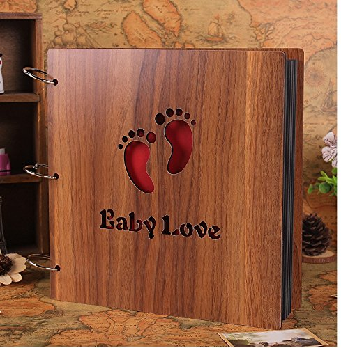 Luffar Wooden Cover DIY Photo Album 12 Inch Anniversary Scra