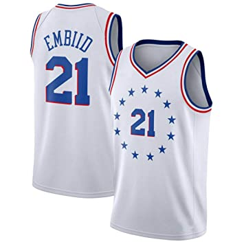 CRBsports Joel Embiid, Camiseta De Baloncesto, 76ers, Earned Edition, New Fabric Embroidered, Swag Sportswear: Amazon.es: Deportes y aire libre