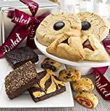 Gourmet Food Gift Basket – Includes an assortment of: Jumbo Chinese Cookies, Hamentashen, Walnut Brownie, Chocolate Cheese Brownie, and Assorted Rugelach. Top Gift!