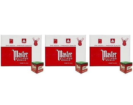 3 dozen Masters Red Billiard Chalk