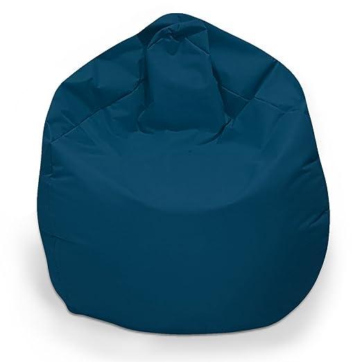 Puf XL sitzbag Color Marino/Azul Con Cojín de suelo Cojín de ...