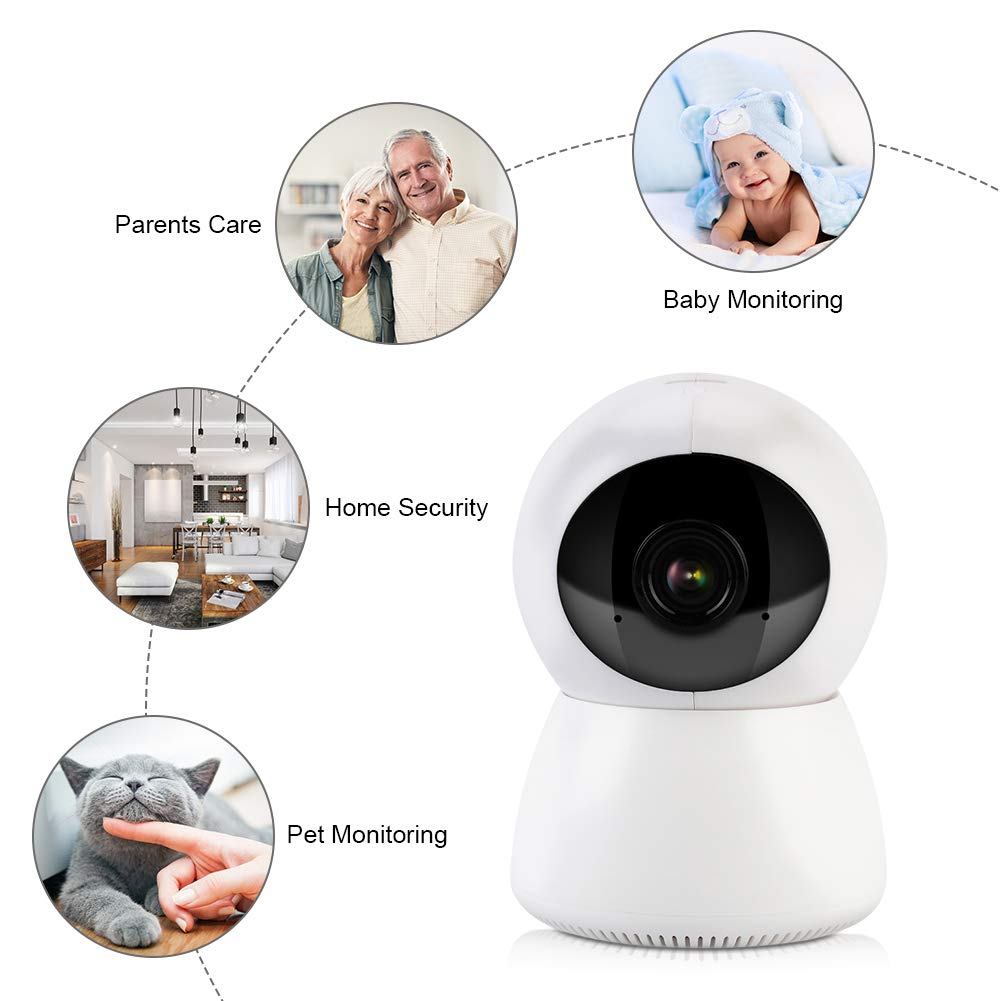 Monitoreo de Movimiento Intercomunicador de Voz D/úplex EU C/ámara de Seguridad con WiFi Inal/ámbrico HD Visi/ón Nocturna por Infrarrojo 1080P C/ámara de Vigilancia