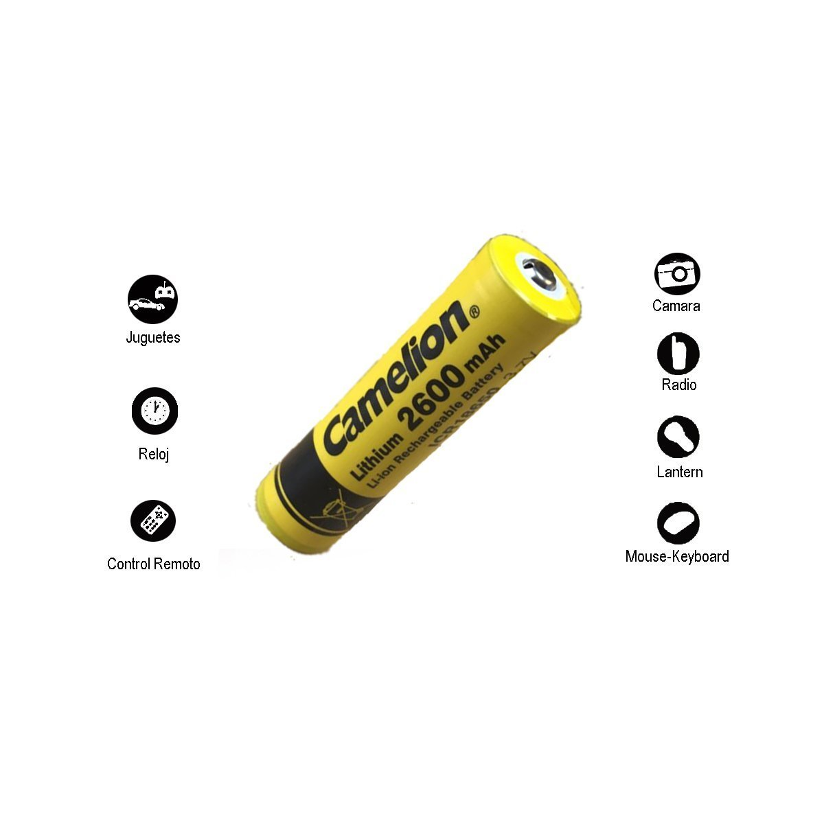 Camelion 18650 Battery 3.7V 2600 mah Rechargeable Lithium. Ultra Bright Led Flashlight 1070 Lumens - - Amazon.com