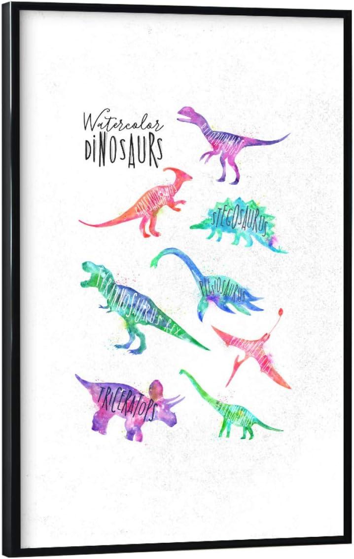 Bild Vintage Retro Collage artboxONE Poster 30x20 cm Dino /& Dinosaurier Typografie Baby Dinosaurier