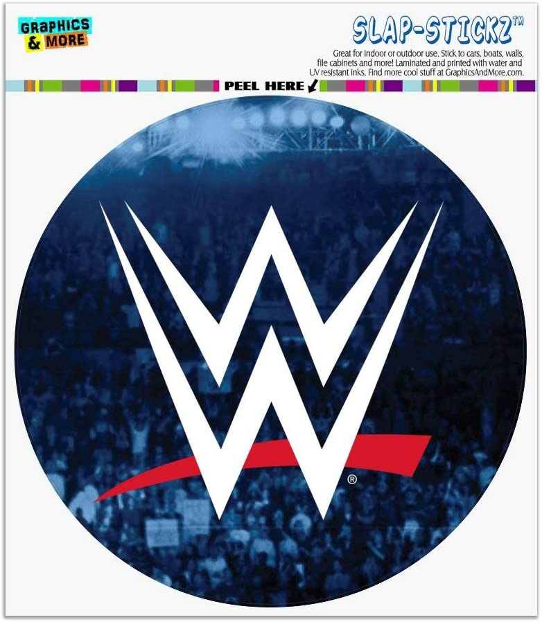 Graphics and More WWE Crowd Logo Automotive Car Window Locker Circle Bumper Sticker