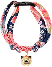 Necoichi Chirimen Hanabi Fireworks Cat Collar, Handcrafted in Japan, 1 Size fits All