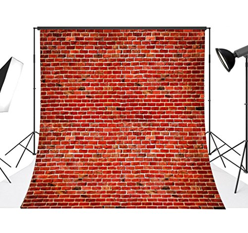 DODOING 10x10FT Red Brick Wall Photography Backdrop Retro Brick Photo Background for Studio Prop 3x3 Meters