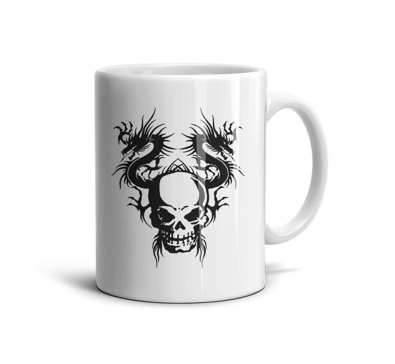 BIAOSD Best Coffee Mug Skull Dragon Funny Mug Gifts Mug Cup 11oz for Men Women