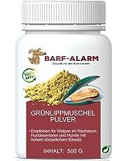 100% Grünlippmuschelpulver für Hunde 500g - Natürliches Grünlippmuschelextrakt Hunde Perna Canaliculus – Grünlippmuschel Hund Barf Pulver