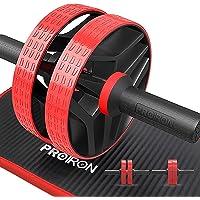 PROIRON Ab Buk-rullhjul med extra tjock knämatta – magtränare för hjärnträning, magträning för magträning