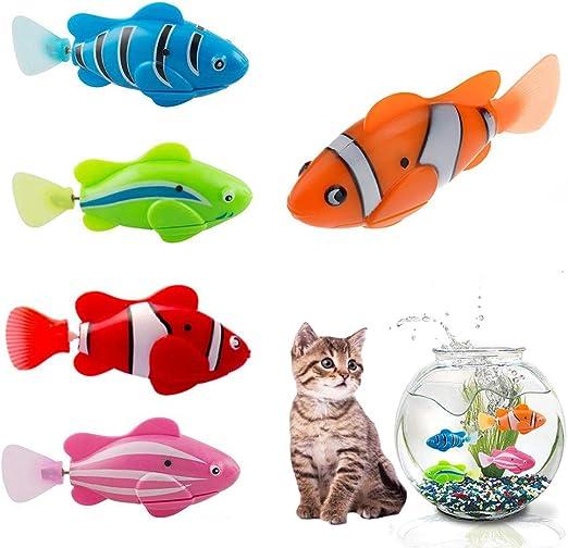 Hcpet 5 Piezas Juguetes para Gatos, Juguete eléctrico de Movimiento Artificial, Juguete para Gatos (A): Amazon.es: Productos para mascotas
