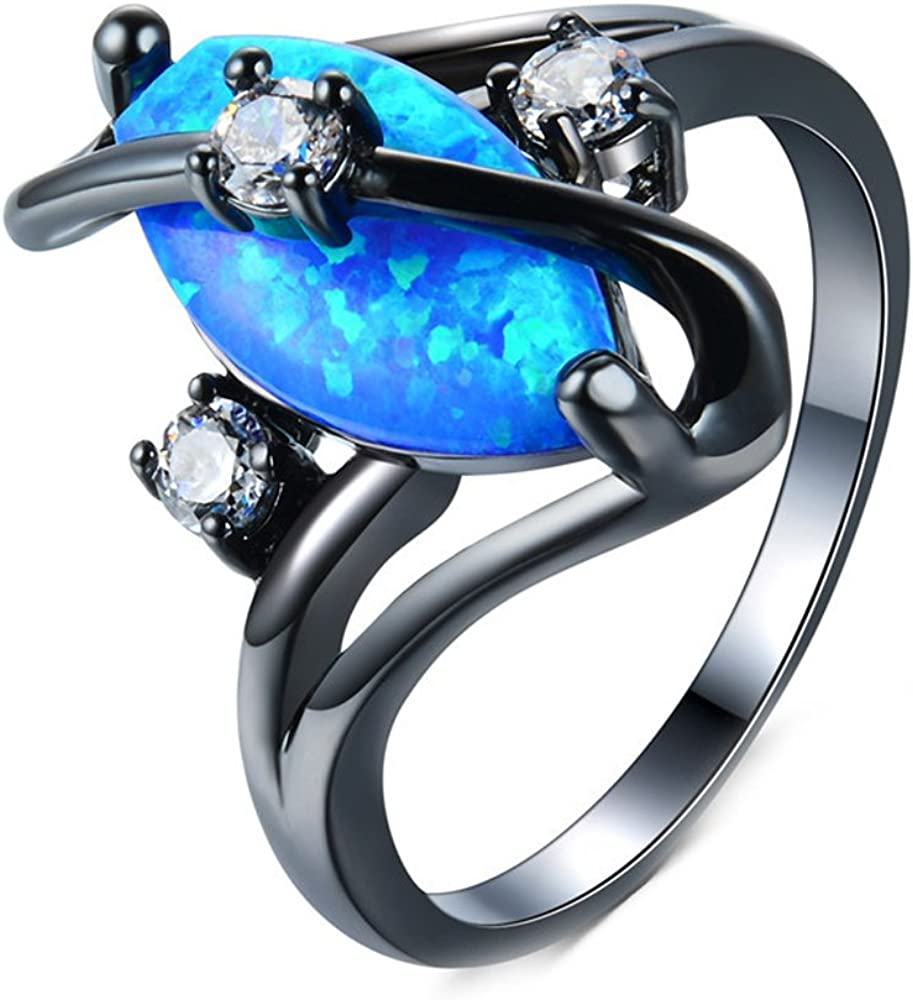 T/&T ring Fashion Charms Stone Vintage Rings Silver Color Rings Jewelry For Women Wedding Rings