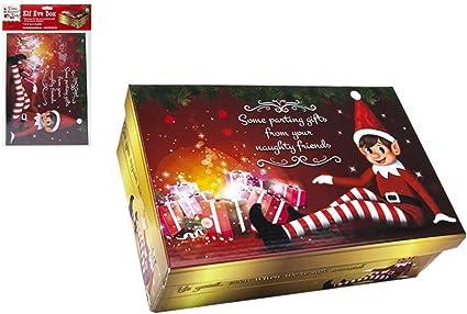Elf Christmas - Caja de Navidad, diseño de elfo: Amazon.es ...