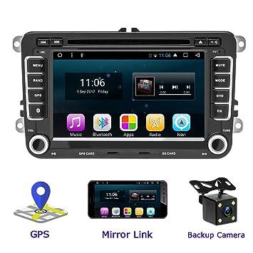 Camecho Android CD Car Radio para VW DVD Estéreo GPS 17.8 cm Pantalla táctil Auto Estéreo