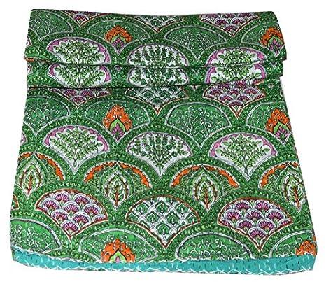 Amazon.com: Yuvancrafts - Colcha de algodón puro hecha a ...