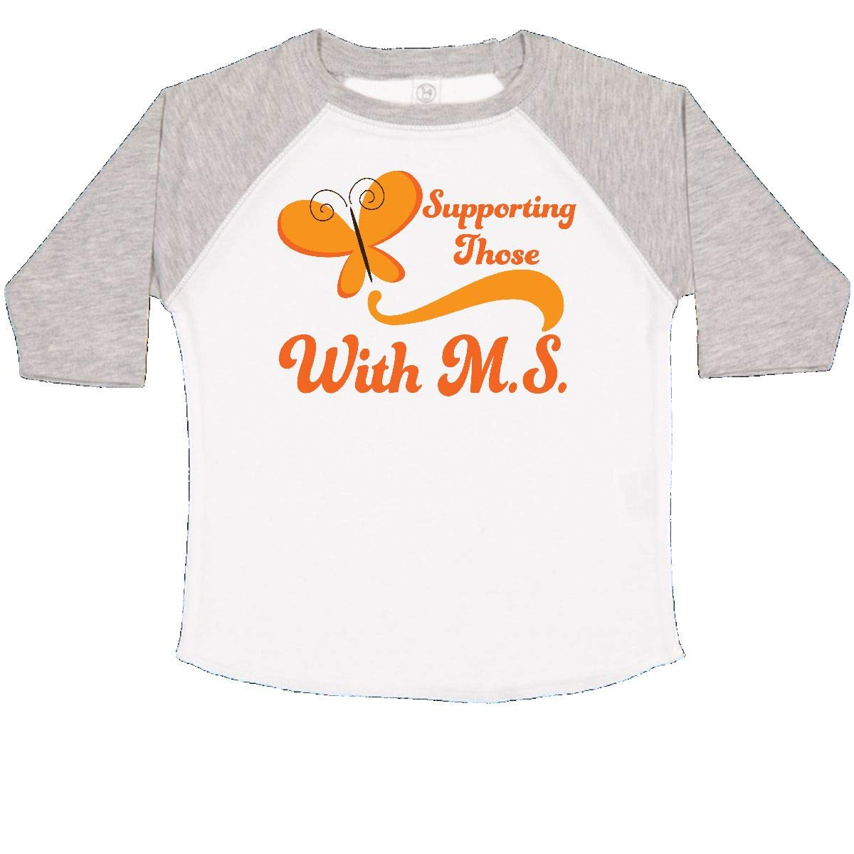 inktastic Multiple Sclerosis Support Butterfly Toddler T-Shirt