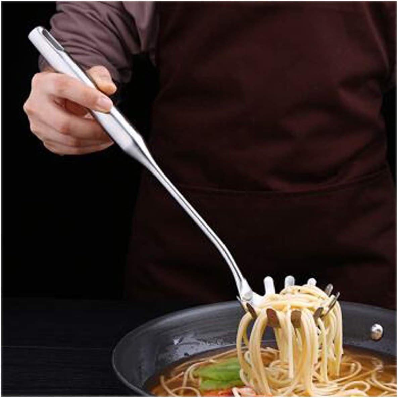 Ustensiles de Cuisine 3 pi/èces Cuill/ère /à Spaghetti Con Ecumoire en Acier Inoxydable et Spatule pour la Cuisine Yueser Cuill/ère /à Spaghetti