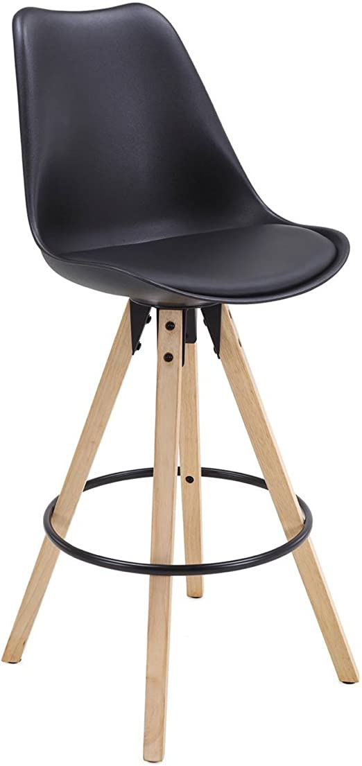 Kayelles Tabouret chêneNoir Chaise en Bar Design piétement de Cleo de Bar Scandinave doerCxB