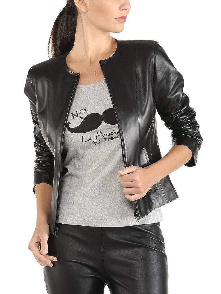 Ll907 Exemplar Genuine Lambskin Leather Jacket for Women