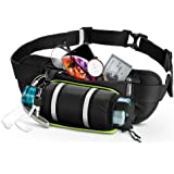 "ESR Hydration Waist Pack, Running Belt with Water Bottle Holder and Adjustable Strap, Large-Pocket Waist Bag, Phone Holder Fits Phones up to 6.5"", Running Pouch for Men and Women, Black"