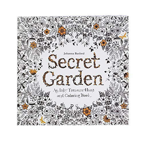 Occitop Kid Hand-Painted Coloring Book Relieve Stress Painting Book (Secret Garden) from Occitop