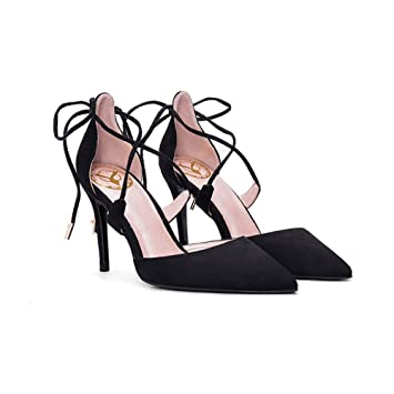 836c7537d7f7 Escarpins YIXINY BD-773 Chaussures Femme Sexy Élégant Conception De Sangles  Croisées Talon Mince Pointu