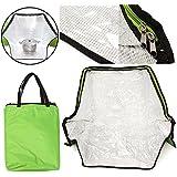 Bolsa de horno portátil y solar verde para cocinar al aire libre, camping, viajes, herramientas de emergencia para cocinar bolsa de horno solar