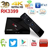 Omikai R-TV BOX X99 RK3399 4GB RAM 32GB ROM 6 Cores 64-Bit Android 7.1 USB 3.0 BT 4.1 Dual Wifi Type-C Port 4K FHD UHD Smart Media Player