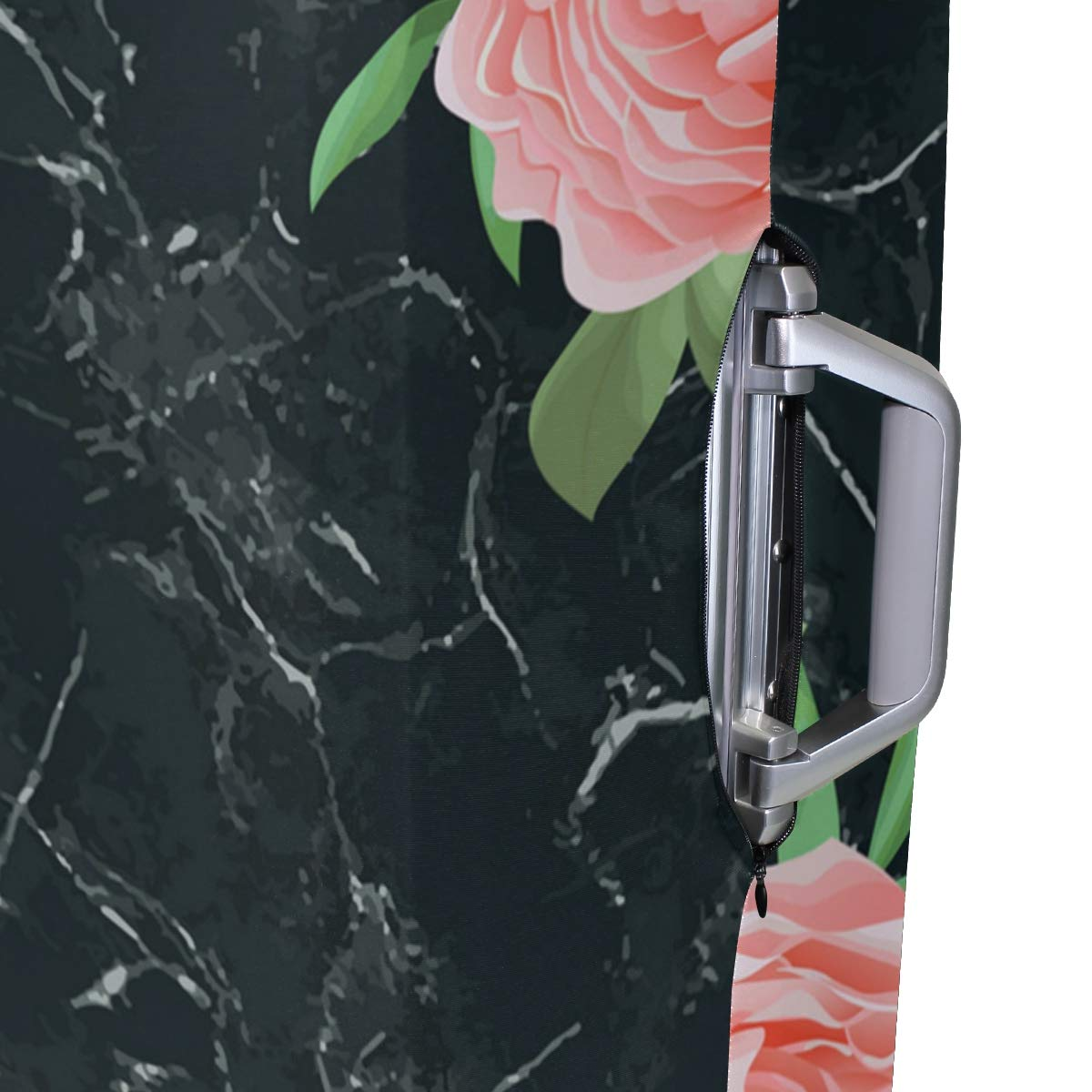 Black Marble Pattern Traveler Lightweight Rotating Luggage Cover Can Carry With You Can Expand Travel Bag Trolley Rolling Luggage Cover