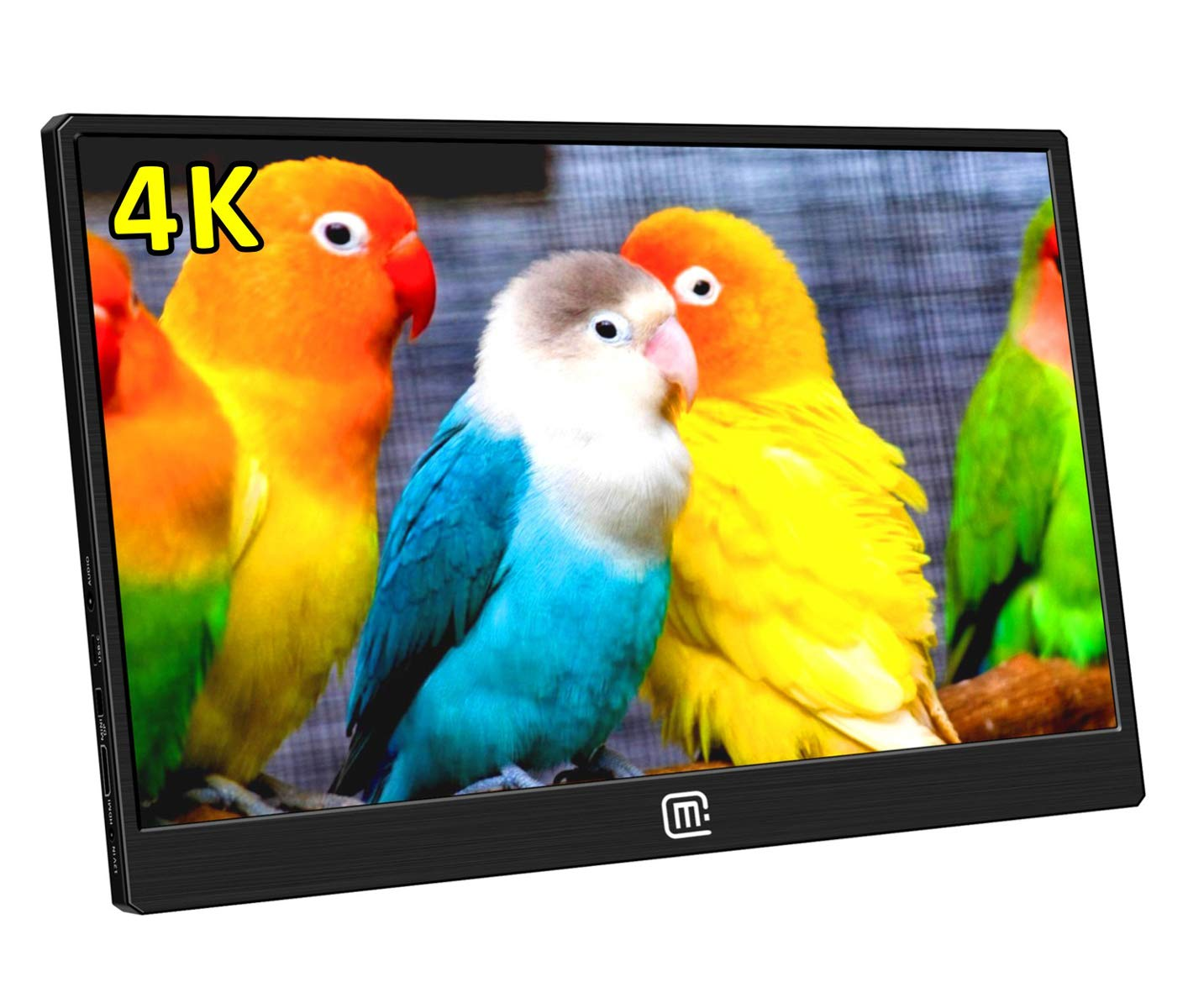 MageDok 4K Portable Monitor With USB Type-C/HDMI/Display Port Input,15.6  Inch,Ultra HD 3840x2160 IPS Display,Ultralight Weight,Stereo  Speakers,Mountable: ...
